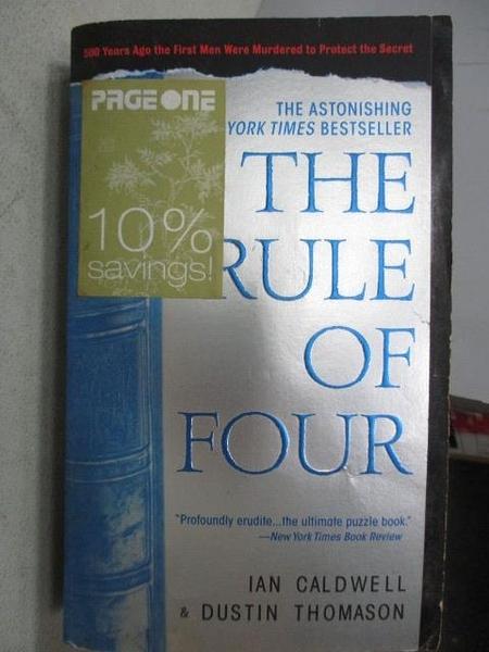 【書寶二手書T3/原文小說_CNF】The Rule of Four_IAN Caldwell