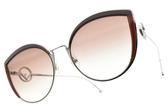 FENDI太陽眼鏡 FF0290S LHFHA (紫銀-漸層棕鏡片) 時尚貓眼造型款 # 金橘眼鏡