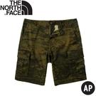 【The North Face 男 彈性防潑短褲《軍綠迷彩》】5B3W/休閒短褲/運動短褲