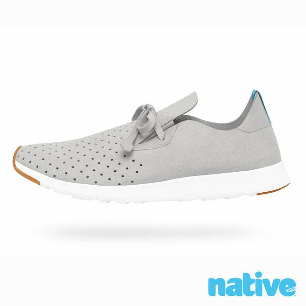 native APOLLO MOC 生膠莫卡辛鞋-鴿子灰x貝殼白(男/女)