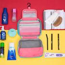 《J 精選》時尚拼色防潑水可懸掛防震盥洗包/化妝包/小物收納包