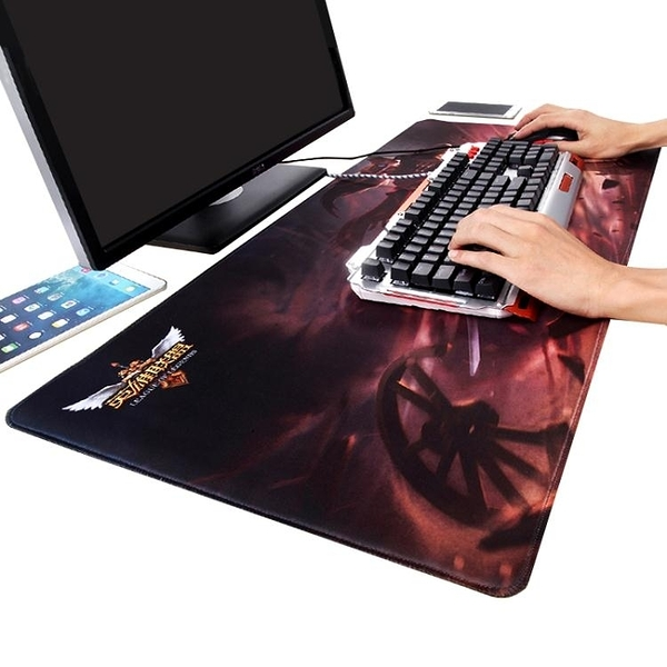 游戲滑鼠墊超大號加厚鎖邊創意可愛卡通電腦滑鼠墊辦公桌墊鍵盤墊