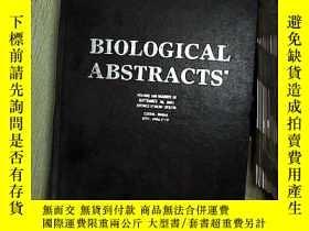 二手書博民逛書店BIOLOGICAL罕見ABSTRACTS ENTRIES VOLUME108 NUMBER18 生物文摘條目卷1