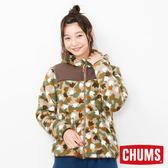CHUMS 日本 女 Fleece Elmo 兜帽外套 腳掌迷彩 CH141078Z086