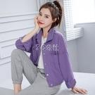 紫色牛仔外套女新款春秋韓版設計感小眾鹽系寬鬆短款夾克上衣