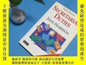 二手書博民逛書店secretarial罕見dutiesY205819 John Harrison pitman publish