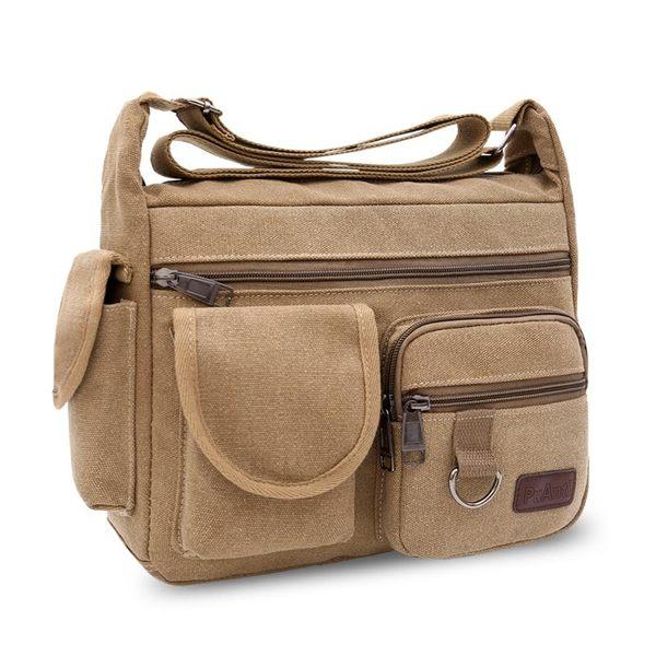 帆布包男挎包休閒男士包包快遞男包背包大容量斜背側背包 新品特惠