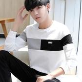2018春秋季男士韓版上衣長袖T恤潮流男生打底衫衛生衣外套潮牌連帽T恤