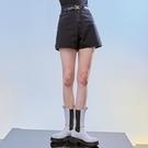 短褲 高腰口袋質感牛仔短褲PV9938-創翊韓都