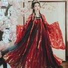 漢服 【花神記—翎星】原創漢服女兩片式唐制齊胸襦裙女漢服紅色非古裝 快速出貨