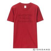 【GIORDANO】男裝theFUTURE系列立體印花T恤-21 標誌紅