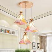 吊燈餐廳時尚創意個性三頭餐桌燈現代簡約過道吧台LED小 NMS漾美眉韓衣