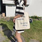 帆布袋 字母 帆布包 手提袋 小方包 環保購物袋--手提/單肩【SPA191】 icoca  07/19
