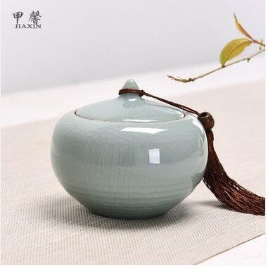 迷你光澤瑩潤層次分明陶瓷茶葉儲存罐Eb14785『夢幻家居』