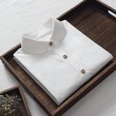 白襯衫女秋裝新款純棉女士襯衣長袖打底衫修身韓版學生職業裝