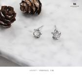 925純銀‧典雅奶油花.耳飾 e90681