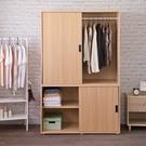 衣櫃 衣櫥 收納【收納屋】米特大容量推門衣櫃& DIY組合傢俱