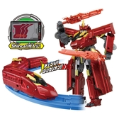 《 TOMICA 》新幹線變形機器人 DXS13 暗黑號真紅型態  /  JOYBUS玩具百貨