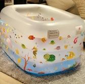 充氣泳池 兒童游泳池家用超大充氣兒童加厚可折疊室內小孩洗澡游泳桶 果果生活館