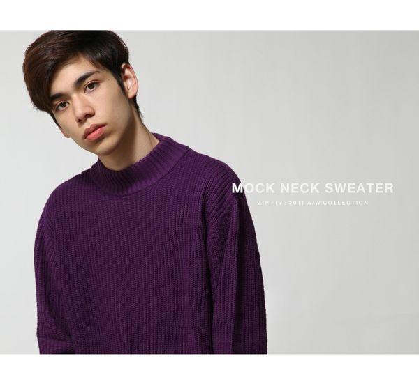 毛衣 中高領針織上衣