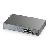 ◤全新品 含稅 免運費◢ ZyXEL GS1300-10HP 8埠GbE無網管IP監控CCTV專用PoE交換器