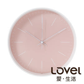 時鐘 Lovel 30cm Anderson's Palette靜音機芯掛鐘-粉(T721–PK)里和 Riho