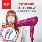 【贈好禮】TESCOM TCD5000 TCD5000TW 白金 膠原蛋白 負離子 奈米 吹風機 日本製 群光公司貨