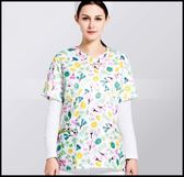 手術服印花滌棉透氣短袖醫生護士服美容院分體套裝女款洗手服LG-882018