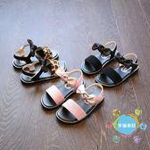 涼鞋夏季新品正韓女童涼鞋公主鞋豹紋寶寶鞋兒童沙灘鞋女童鞋