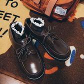 娃娃鞋女 幼稚商店 日繫復古圓頭英倫娃娃鞋女學院風單鞋學生原宿小皮鞋ins 俏女孩