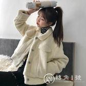 2018新款秋冬女裝韓版寬松加厚保暖仿羊羔毛棉衣短款開衫棉服外套