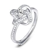 戒指 925純銀 鑲鑽-高貴大方生日情人節禮物女飾品73dx77[時尚巴黎]