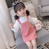 女童套裝背帶裙春裝兒童兩件套韓版童裝【聚可愛】
