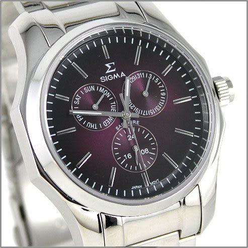 【萬年鐘錶】SIGMA日系 三眼時尚對錶 1018M-1018B-15