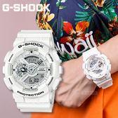 【人文行旅】G-SHOCK   GA-110MW-7ADR 夏季白色經典時尚運動腕錶