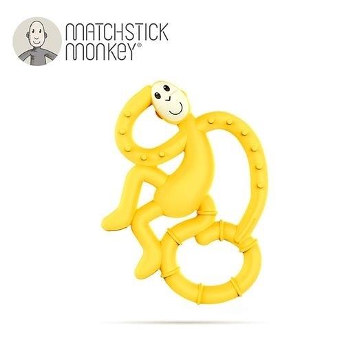英國Matchstick Monkey 跳舞猴牙刷固齒器-黃力猴[衛立兒生活館]