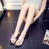 新款夏季新品人字拖女夾腳指頭涼拖鞋海邊外穿平底鞋防滑沙灘   衣櫥の秘密