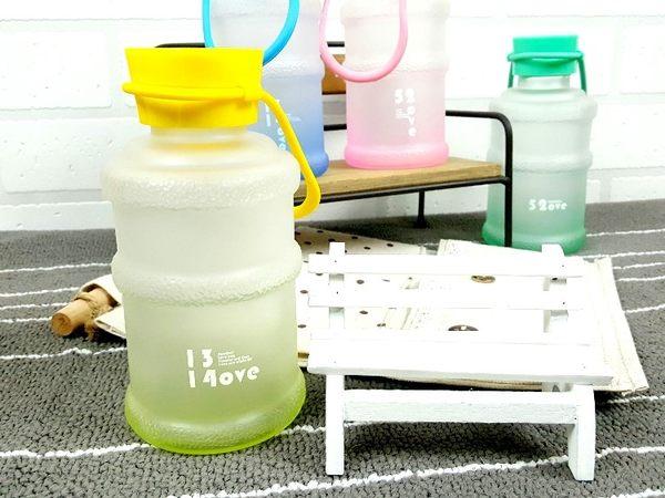 水杯【KCG093】霧面手提小水筒玻璃杯370ml 水瓶 瓶子 咖啡杯 隨行杯 水壺-123ok
