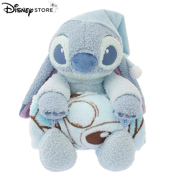 日本 DISNEY STORE 迪士尼商店限定 史迪奇 放鬆時間系列 玩偶&毛毯組合