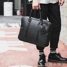 公事包潮流時尚休閒公事包電腦包商務男包文件包時尚皮質男士手提包 蘿莉小腳ㄚ