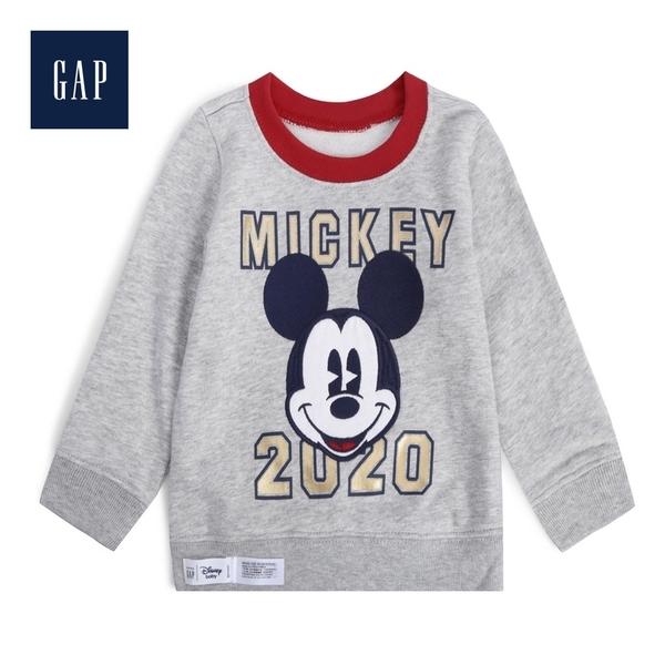 Gap男嬰兒甜美迪士尼毛圈布套頭衛衣523916-淺麻灰