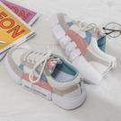 小白鞋女2021春季新款帆布鞋女鞋韓版百搭學生休閑基礎小白鞋厚底白鞋板鞋 歐歐