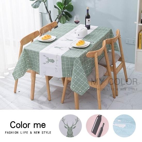 野餐墊 桌墊 桌巾 防水 PVC 餐巾 桌布 防油 條紋 防塵罩 北歐印花桌布(大)【J112】color me