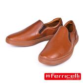 【ferricelli】Outback男仕網球遊艇休閒皮鞋  棕色(F51421-CAS)