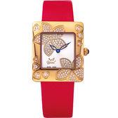 Ogival 瑞士愛其華 花漾馨語珠寶腕錶-玫瑰紅