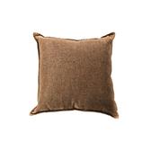 浮紋編織對色抱枕45x45cm咖