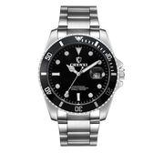 男手錶 男錶防水夜光日歷錶鋼帶運動手錶《印象精品》p41