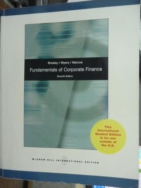 【書寶二手書T9/大學商學_PNG】Fundamentals of Corporate…_7/e