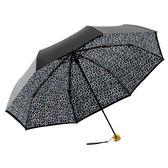 【德國BOY】抗UV超輕防曬-防潑水快乾雙層黑膠三折傘(繽紛豹紋)