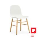 丹麥 Normann Copenhagen Form Chair 俐落風格系列 單椅 木質椅腳(白色椅身 / 橡木椅腳 )